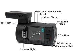 Image 5 - Conkim سيارة بعدسة مزدوجة داش كاميرات لتحديد المواقع DVR الجبهة 1080P + كاميرا خلفية 1080P FHD وقوف السيارات الحرس السيارات المسجل Mini 0906 PR0 داش كام