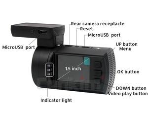 Image 5 - Conkim Dual Lens Car Dash Cameras GPS DVR Front 1080P+Rear Camera 1080P FHD Parking Guard Auto Registrar Mini 0906 PR0 Dash Cam