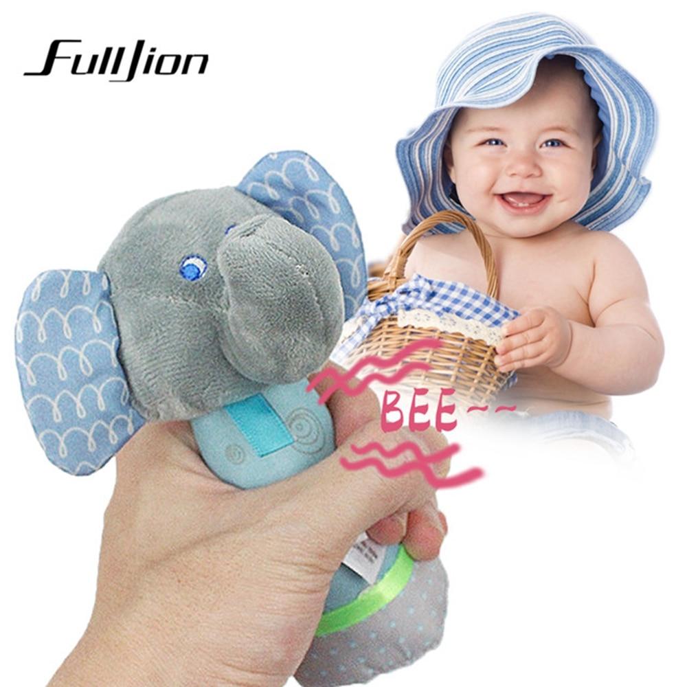 Fulljion Baby Rattles Mobiles Elephant Stroller Toys For Baby Comfort Toddler Stuffed Animal Infant Educational Musical Bed Bell