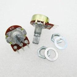 5 unids/lote WH148 B1K potenciómetro lineal 15mm eje con tuercas y arandelas caliente 3Pin de alta calidad