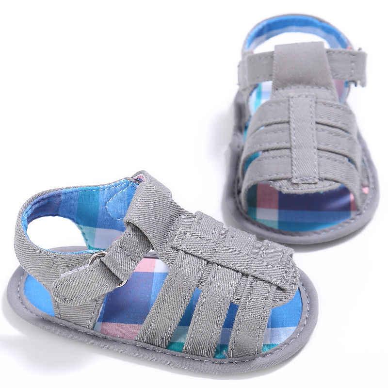 Moda Baby Boy letnie sandały sportowe dziecięce kołyska dla małego dziecka buty 0-18 miesięcy