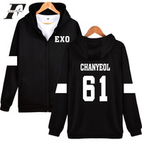 Kpop EXO Hooded Sweatshirt Women Korean Popular Team Hip Hop Winter Coat Fashion Women Hoodies Sweatshirts