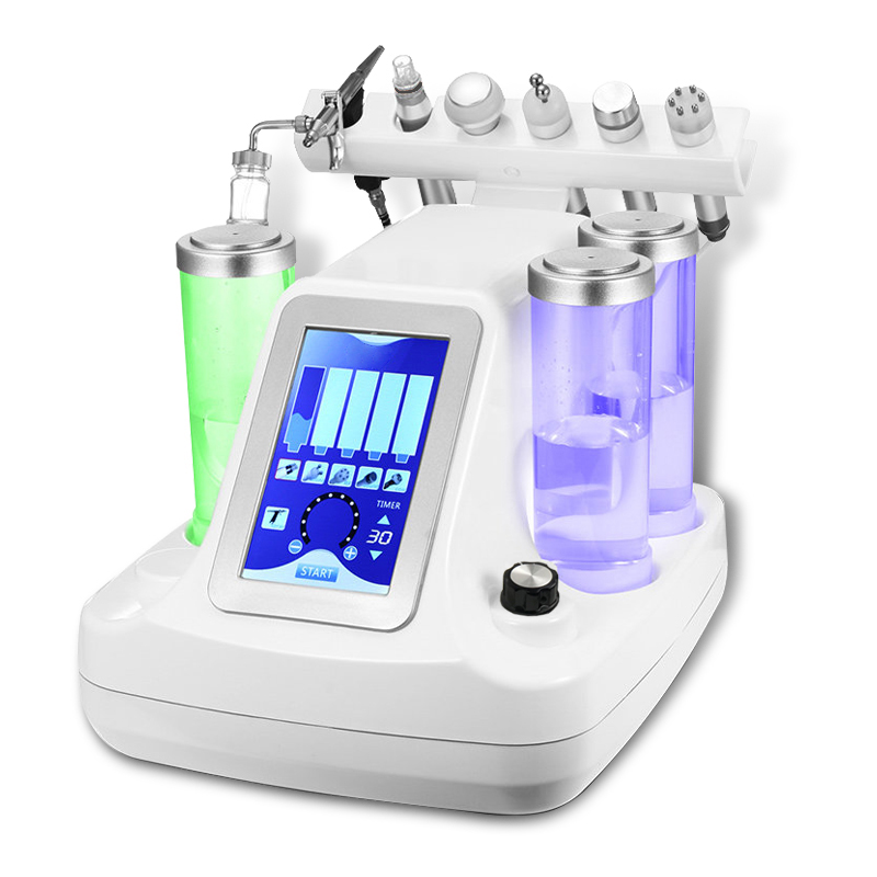 6 In 1 Hydra Dermabrasion Aqua Peel Clean Skin Care BIO Light RF Vacuum Face Cleaning Hydro Water Oxygen Jet Peel Machine