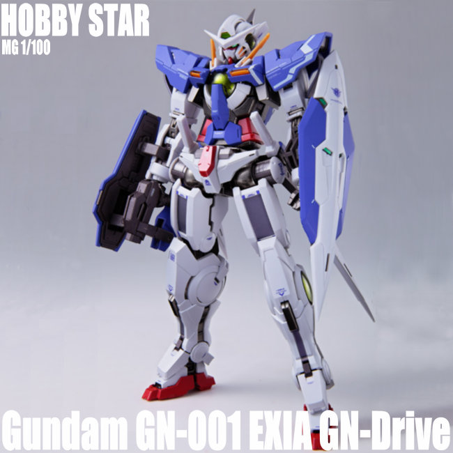 HOBBY STAR HS Gundam MG 1 100 GN 001 EXIA GN Drive Anime Figures Action Figure