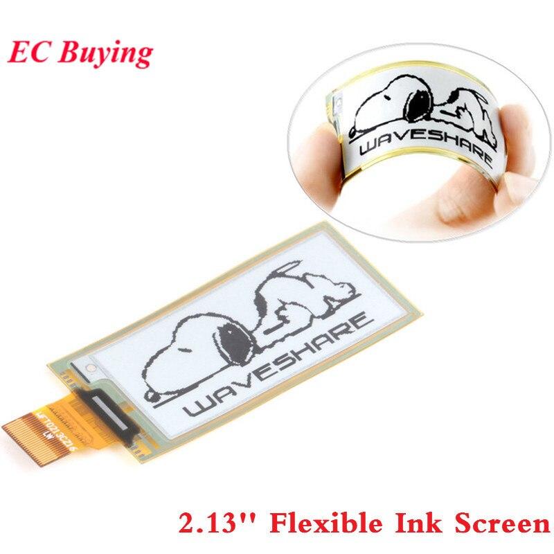 2.13 Inch Flexible Ink Screen 2.13 Display Module e-Paper Panel Black White SPI Interface 212*104 Display DIY for Raspberry Pi2.13 Inch Flexible Ink Screen 2.13 Display Module e-Paper Panel Black White SPI Interface 212*104 Display DIY for Raspberry Pi