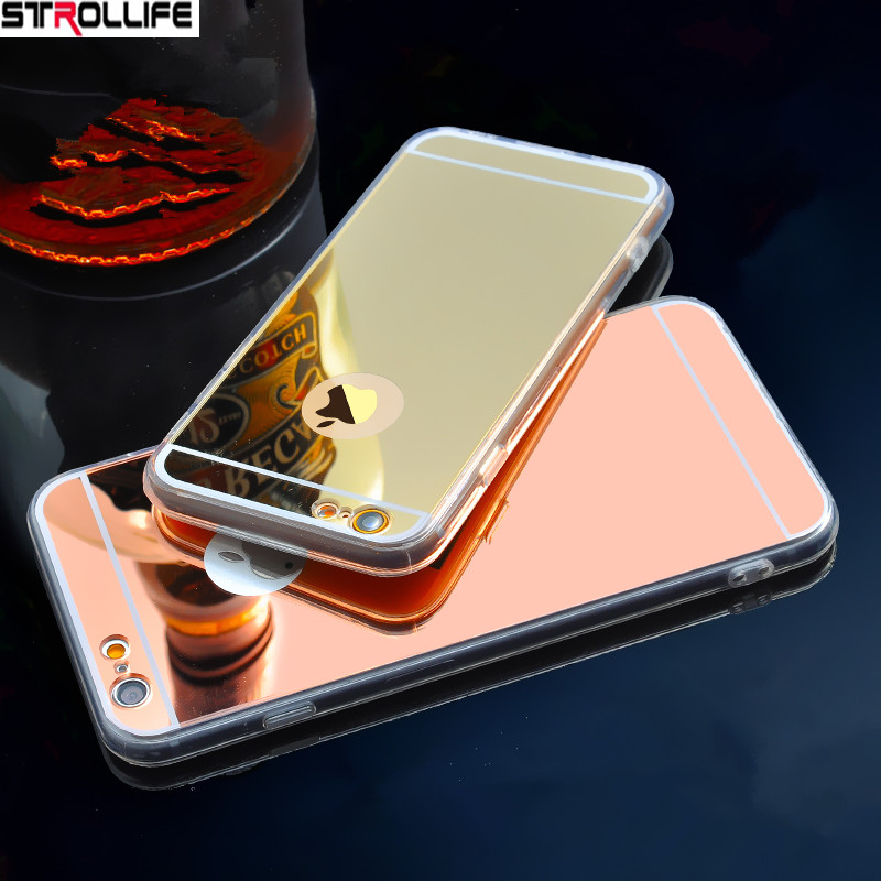 STROLLIFE Luxury Mirror Phone Case For iPhone 6 case Ultrathin Soft Shell Protect Back Cover For