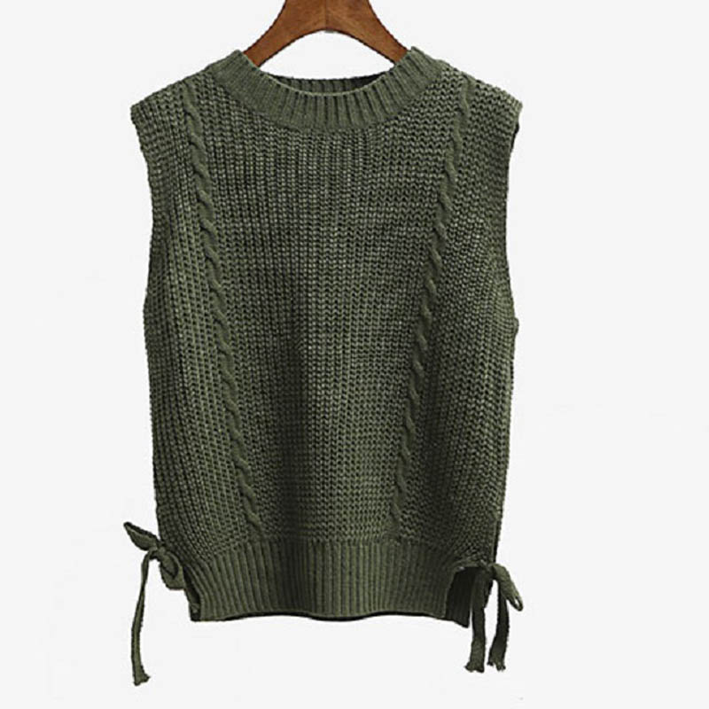 Maglia con maniche collo da maglia donna a senza VGqMSULzp