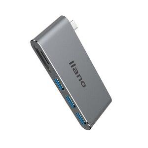"Image 5 - מחשב נייד תחנת העגינה USB 5 in 1 C מתאם עבור ה macbook Pro 13/15 אינץ 4 K USB HDMI USB C 3.0 SD/TF קורא פ""ד מתאם"
