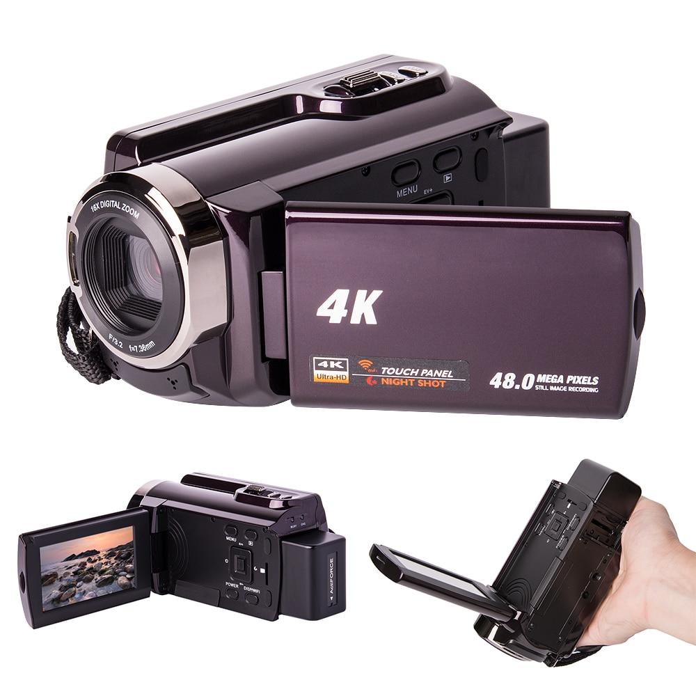 Centechia 3.0 pouces 4 K Wifi sans fil CMOS numérique DSLR caméra DV caméscope enregistreur vidéo 24MP HD 1080 P caméra pour le voyage à la maison
