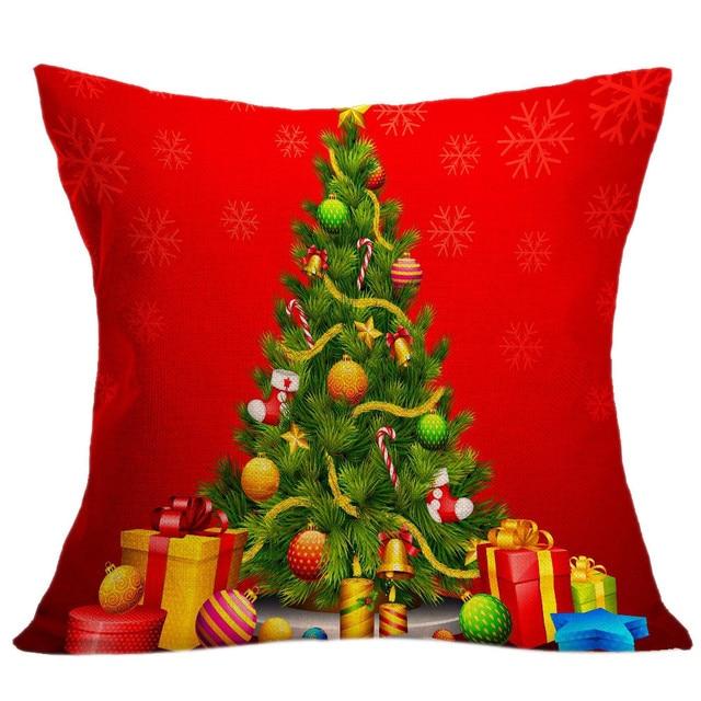 2018 Nuovo Arriva La Copertura del Cuscino Di Natale Albero Di Natale di Stampa