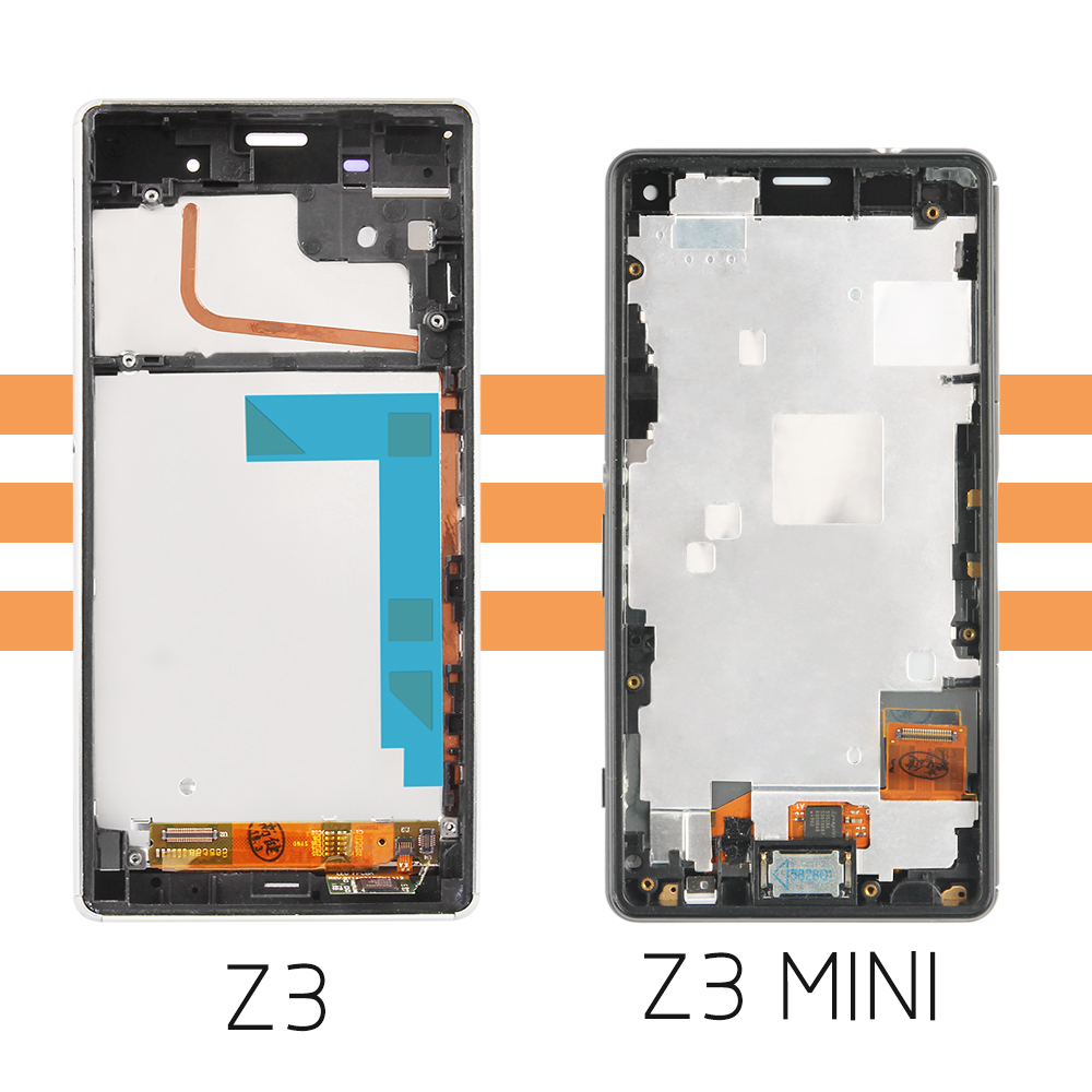 Image 5 - ORIGINAL For SONY Xperia Z3 Compact Display Frame Z3 Mini D5803 D5833 Replacement Display For SONY Xperia Z3 LCD D6603 D6633screen for sony z3sony xperia screentouch screen sony -