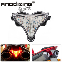 New Free Shipping Motorcycle For Yamaha YZF R1 YZF R1 2009 2014 Smoke LED Tail Light Rear Lamp w/ Turn Signals Integrated