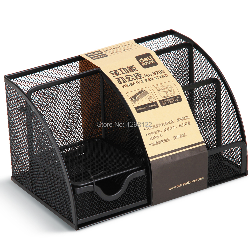 9200 Office Supplies multifunction pen holde storage box metal mesh pen holder metal pen holder mesh desk organizer mesh pen holders storage box metal desk storage holder office home supplies iron pen holder