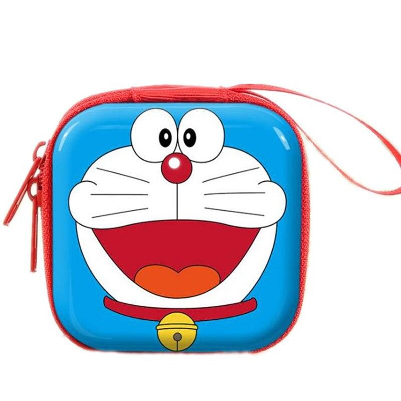 Womens Wallet Tinplate Creative Cartoon Coin Purse USB Cable Earphone Holder Cute Key Storage Box Case Mini