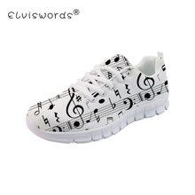 ELVISWORDS música Zapatos mujeres zapatillas De deporte Casual De malla De  aire respirable calzado blanco Tenis a50e6c84314