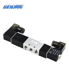 Air Solenoid Valves 4V130-06 3 Position 5 Port 1/8 Pneumatic Control Valve DC12V DC24V AC110V AC220V free shipping 2pcs good qualty 5 port 2 position solenoid valve 4v420 15 have dc24v dc12v ac24v ac36v ac110v ac220v ac380v