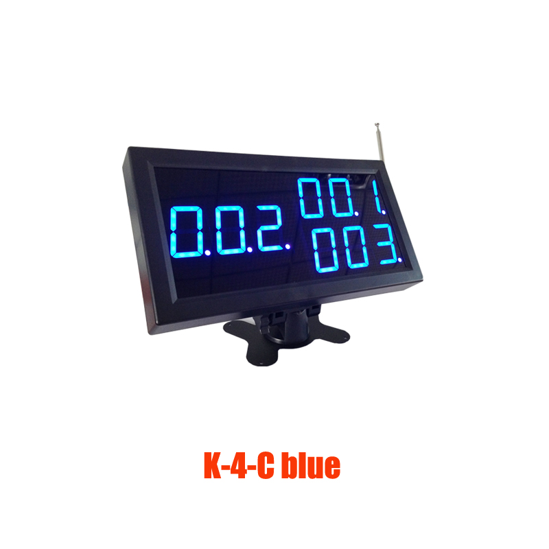Restaurant Display Receiver 3 digit for calling service in 433.92mhz wireless communication