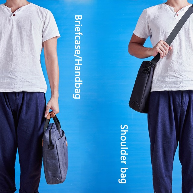 KALIDI Laptop Bag 15.6 17.3 Inch Waterproof Notebook Bag Mackbook Air Pro Sleeve Laptop Shoulder Handbag 17 inch Computer Bag 15 5