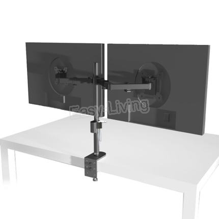 """MS02 Desktop Clamping Full Motion 360 Degree Dual Monitor Holder Stand 10""""-27""""LCD LED Monitor Mount Arm Loading 9.9kgs Each Head 4"""