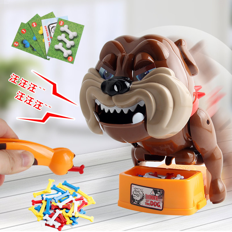 Wake The Dog Bite Practical Jokes Spoof Funny Trick Toy Ware Of The Vicious Dog Electric Fierce Dog Board Games Interactive Toys