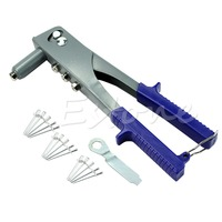 New 15Pcs Pop Riveter Gun Kit Blind Rivet Hand Tool Set Gutter Repair Heavy Duty H02