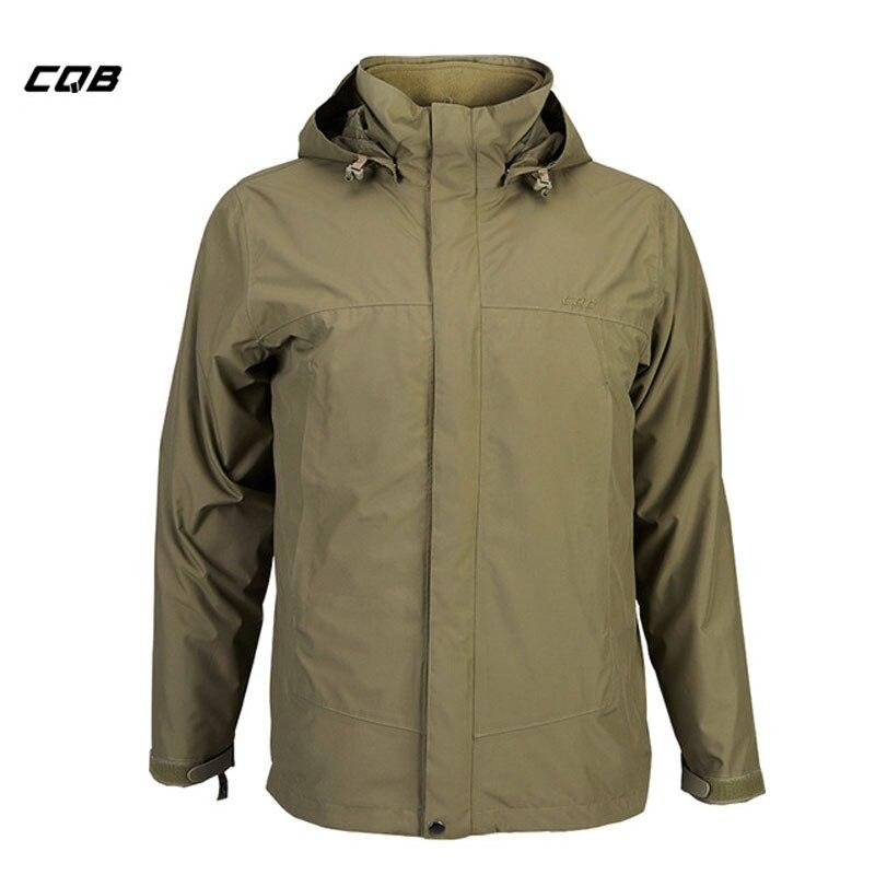 CQB Sports de plein air Camping tactique militaire hommes veste imperméable vêtements thermiques 2 pièces hiver polaire manteau pour la randonnée