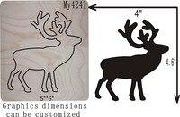 A deer die cut accessories wooden die Regola Acciaio Die Misura ,// MY