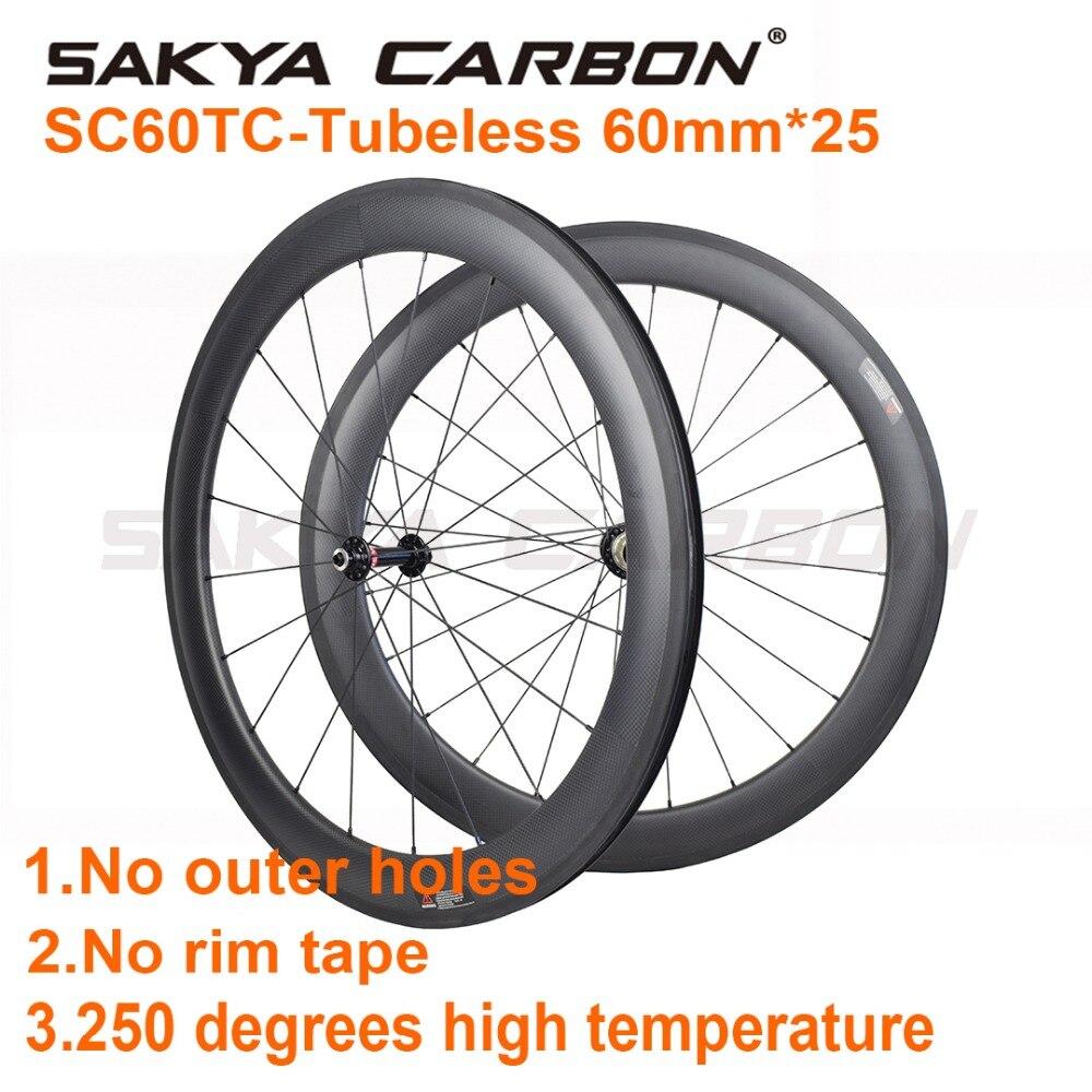 SC60TC Tubeless 700C 60 мм бескамерная покрышка колеса! Дорожный велосипед колеса без внешних отверстий 25 мм Широкие Углеродные колеса высокой температуры|clincher wheel|road bike wheelsbike wheel | АлиЭкспресс