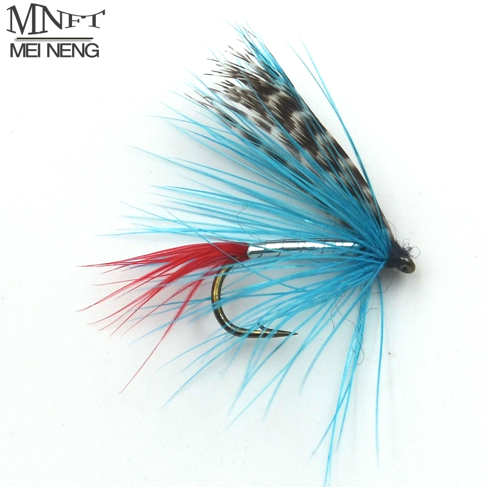 Mnft 10pcs 12 blue silver doctor nymph mayfly dry fly for Fly fishing bait