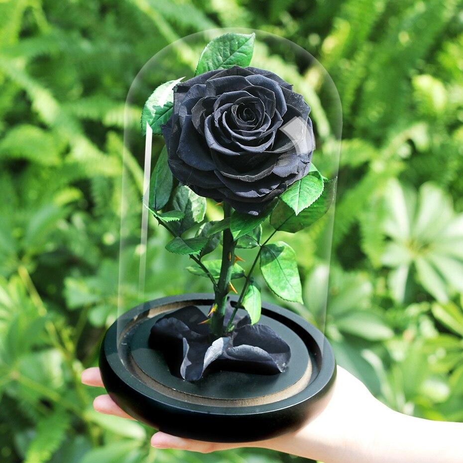 Подарки ко дню Святого Валентина красота и чудовище роза цветок в стеклянном куполе Рождество для украшения стола вечные цветы