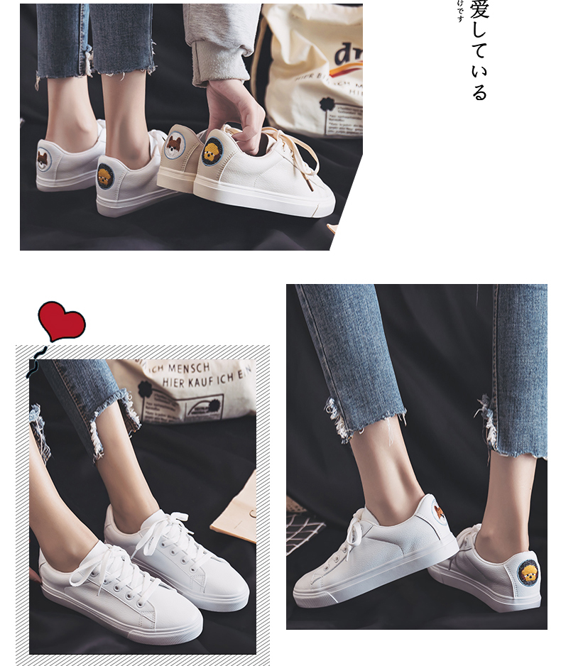 Small white shoes female 2019 spring new wild Hong Kong-flavored shoes female students casual flat bottom shoes tide 44