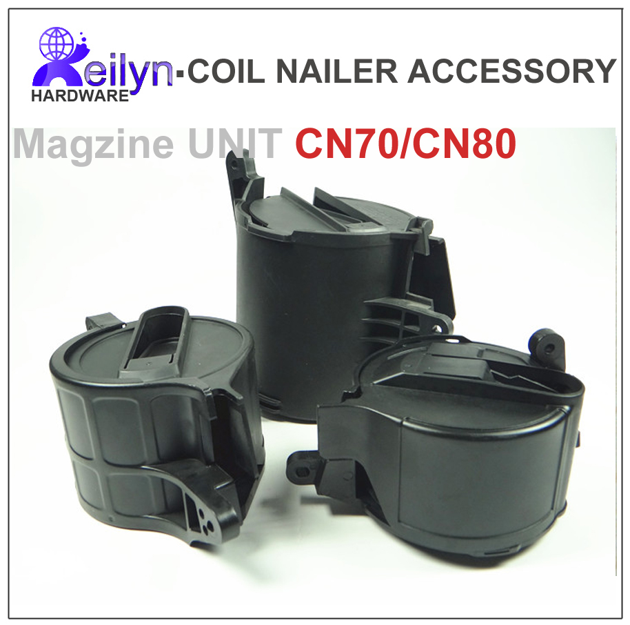 Nailer Parts for CN55 CN70 CN80 Magazine Unit for Coil Nailer  Nail Gun Parts Accessories free shipping reilyn piston cn55p accessory for nail gun parts for coil nailer cn55 for max bostitch senco stanley