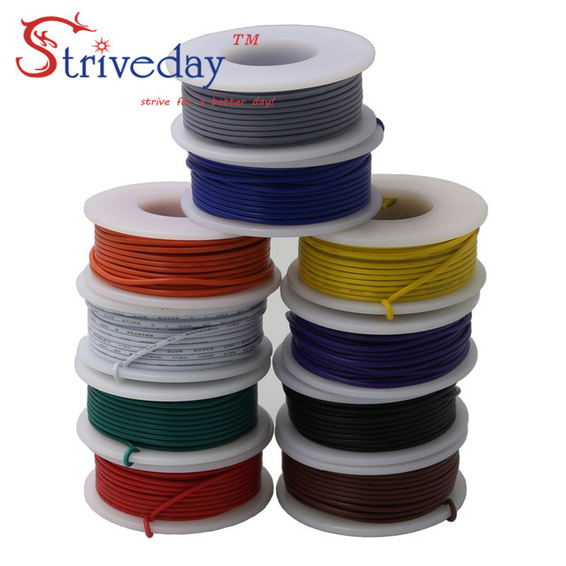 6 meters/roll 197 ft UL 1007 20awg Stranded Wire Electrical line