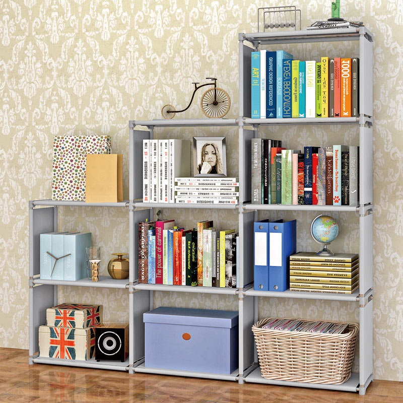 Simple Home Modern Fashion Style High Capacity Non Woven Fabric Free Livingroom  Decoration Furniture Multi Function Five Shelves In Bookcases From  Furniture ...