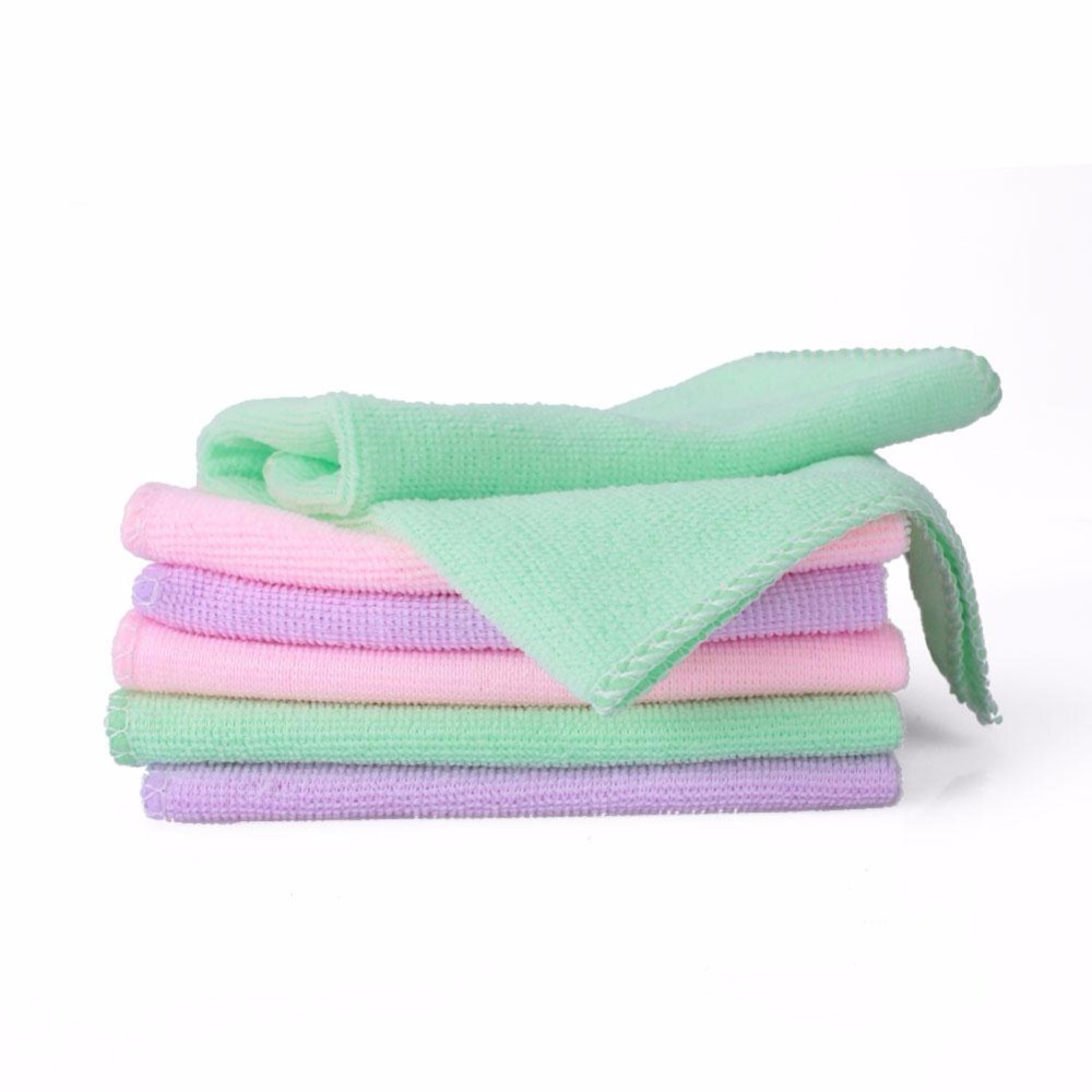 Hot Selling 6Pcs Square Luxury Soft Fiber Towel Car House Multicolor Micro Fiber Detailing Cleaning Cloth Washing Soft Towel