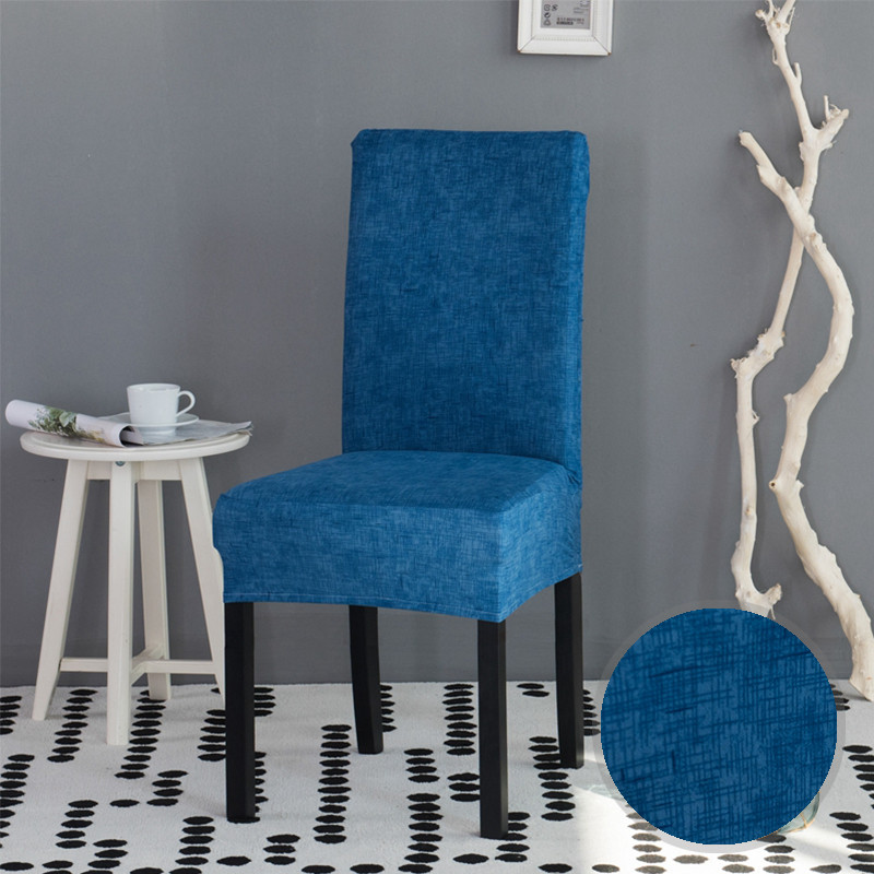 Dining Room Chair Protective Covers: Stripped Cross Pattern Spandex Chair Covers Stretch Dining