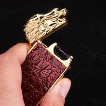 สร้างสรรค์Intellisenseแรงโน้มถ่วงอาร์ชีพจรอิเล็กทรอนิกส์USBชาร์จไฟแช็Windproof Flamelessซิการ์เบาของขวัญผู้ชาย