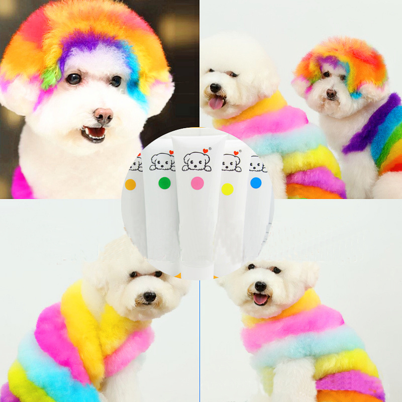Custom Funny Pet Supplies Pet Cat Dyestuffs Dog Dyeing Agent 60g Animals Hair Grooming Shampoo