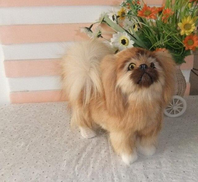 Free shipping cute  stuffed animal 20cm Pomeranian dog ,dog emulation doll