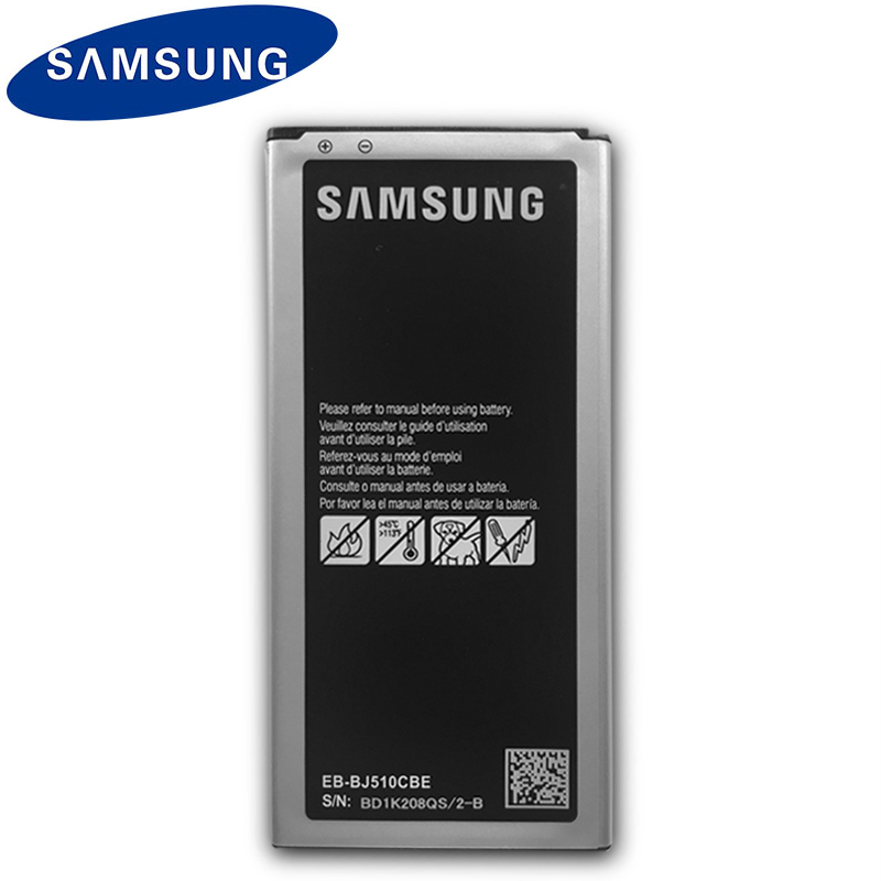 <font><b>Samsung</b></font> Original Phone <font><b>Battery</b></font> EB-BJ510CBE For Galaxy J5 2016 Edition <font><b>J510</b></font> J510FN J510F J510G J510Y J510M EB-BJ510CBC 3100mAh image