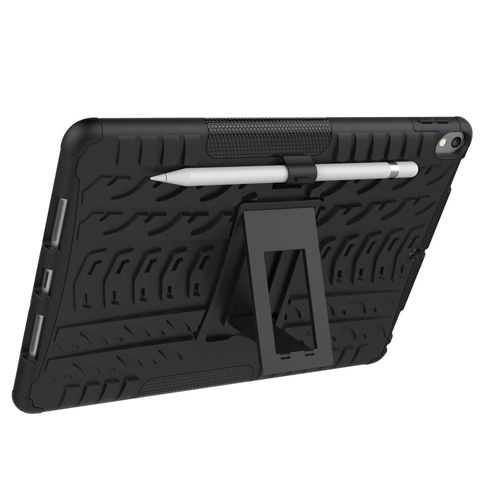 Shockproof Rubber Case For new iPad Pro 10.5 2017 A1701 A1709 Heavy Duty Hybrid Rugged Durable Tablet back Cover+stylus pen+film