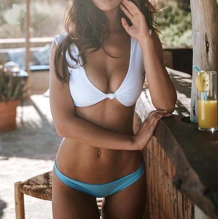 2017 neue Bowknot Solid Color Bikini Set Badeanzug Badeanzug Badebekleidung Beachwear
