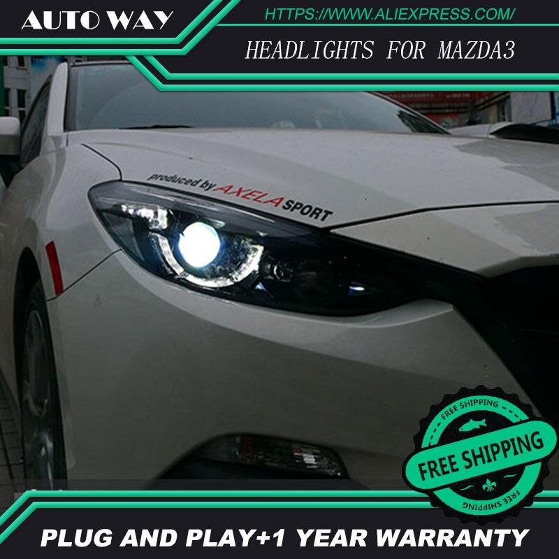 Car Styling Head Lamp case for Mazda3 Axela Headlights mazda 3 2014 2016 LED Headlight DRL