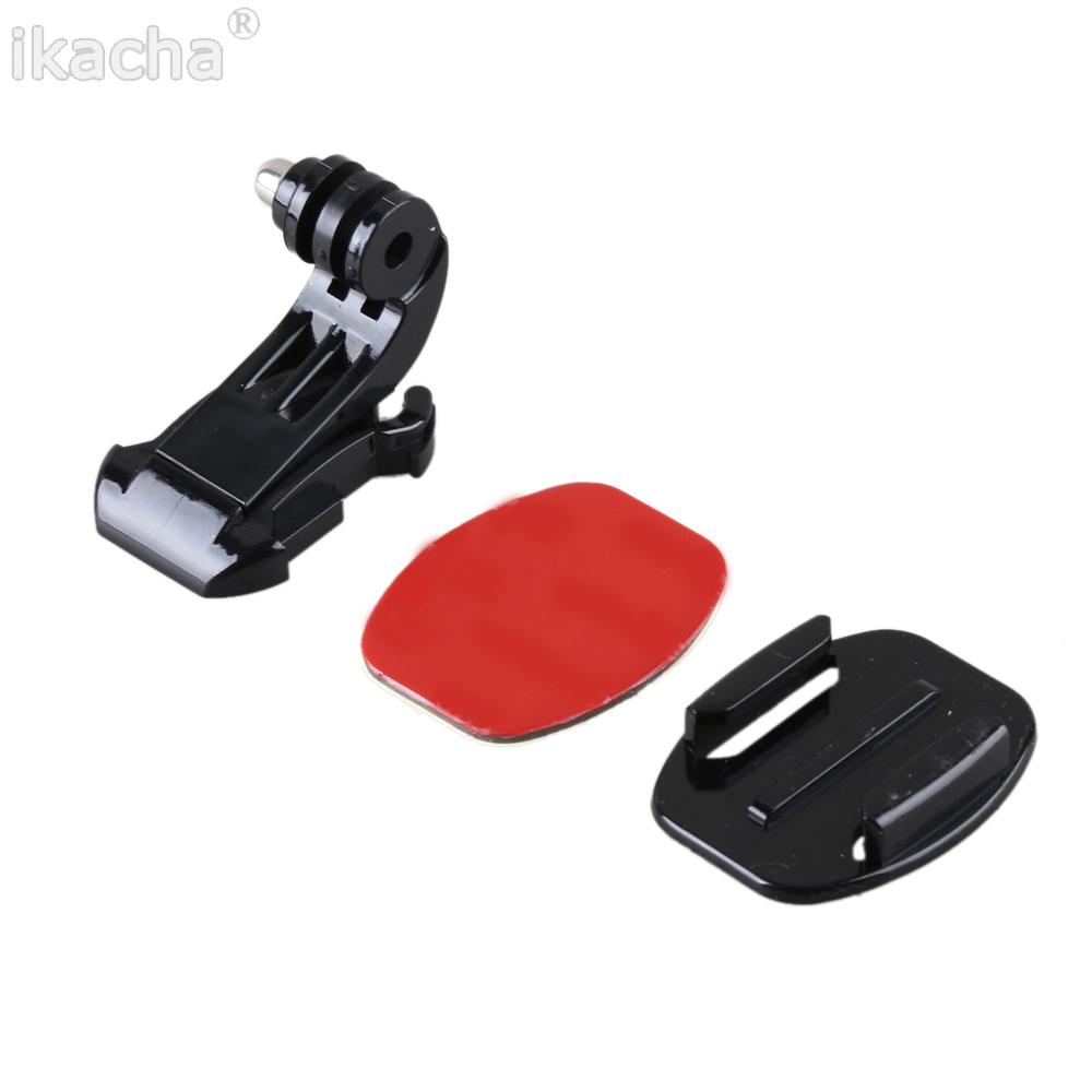 For Gopro J Hook Buckle Holder+3M Adhesive Sticker+Flat Surface Mount For GoPro Hero 3+ For Xiaomi Yi Camera Accessories