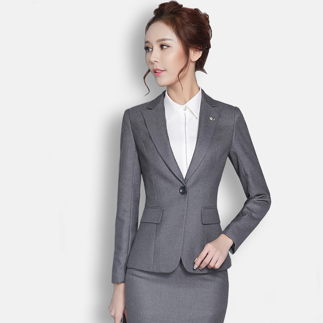 New fall career skirt suits Ms. long-sleeved body suit being renovated white-collar bank overalls interviewPants + tops