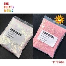 TCT-202 УФ-блеск, ультрафиолетовый светильник, Шестигранная форма, 0,4 мм, блестки для ногтей, украшения для ногтей, гель для макияжа, аксессуар «сделай сам»