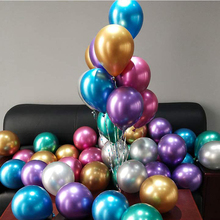 10pcs/lot 12 inch Metallic Chrome Latex Balloons Pearly Silver Gold Wedding Birthday Decoration 0037