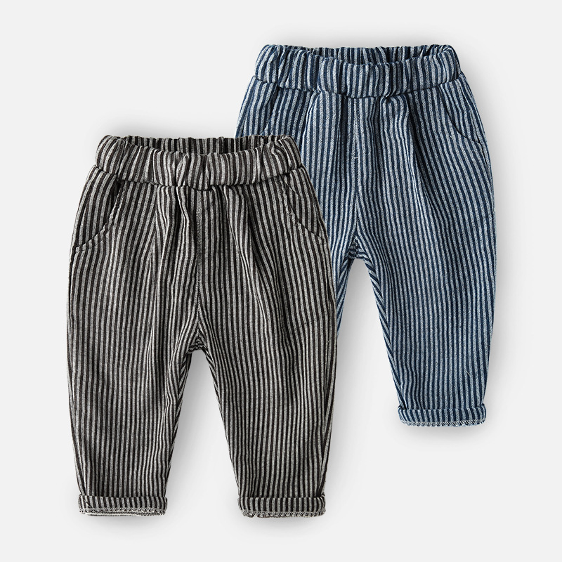 TENYUE, Baby Autumn Cotton Joker Pants Children's Wear Boys Spring and Autumn Baby Pants Children's Vertical Striped Pants boys ribbed striped pants
