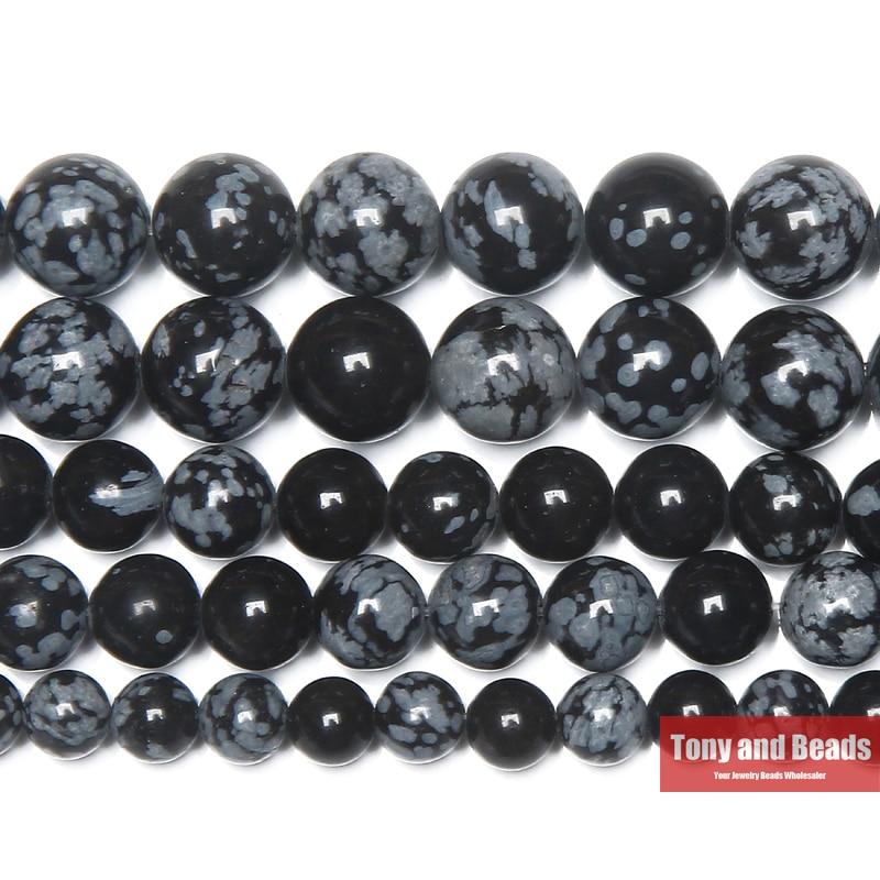 Livraison gratuite pierre naturelle flocon de neige Jaspers perles rondes 15