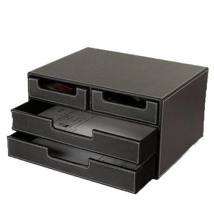 Imitation Leather Storage Box A4 Desktop Storage Box Stationery Finishing  Box  In Storage Boxes U0026 Bins From Home U0026 Garden On Aliexpress.com | Alibaba  Group